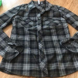 RVCA Flannel Button Down Shirt Size Large